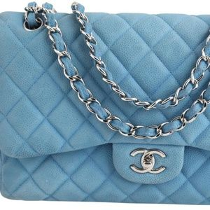 Chanel Quilted Caviar Medium Classic Double Flap B